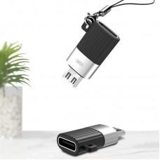 Адаптер XO NB149С USB Type-C-microUSB Black (00000013803)