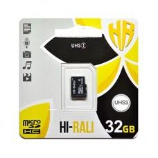 MicroSDHC   32GB UHS-I U3 Class 10 Hi-Rali (HI-32GBSD10U3-00)