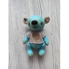 М'яка іграшка HandMade Ведмежа Клод 12 см, блакитний (TI-011)