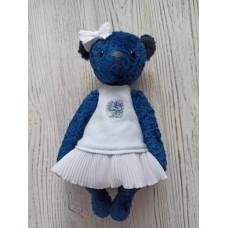 М'яка іграшка HandMade Ведмедик Дівчинка 24 см, темно-синій (TI-012)