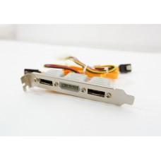 Кабель 2 Port eSATA + питание Molex HDD с планкой