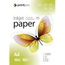 Фотобумага PrintPro матовая 190г/м2 A4 100л (PME190100A4)