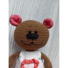 М'яка іграшка HandMade Ведмедик Маша в'язана 18см, коричневий (TI-004)