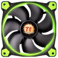 Вентилятор Thermaltake Riing 14 LED Green (CL-F039-PL14GR-A), 140х140х25 мм, 3pin, черный - CL-F039-PL14GR-A
