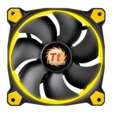 Вентилятор Thermaltake Riing 14 LED Yellow (CL-F039-PL14YL-A), 140х140х25 мм, 3pin, черный - CL-F039-PL14YL-A