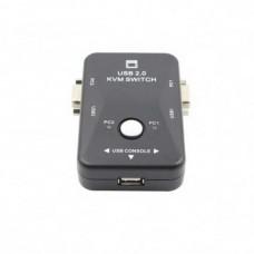 2-портовый KVM свич, переключатель USB (15677) Model: KVM-21UA 2Port USM 2.0 KVM Switch
