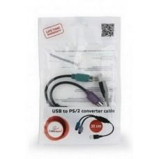 Контроллер Cablexpert (UAPS12-BK), USB 1.1/2 x PS/2, 0.3 м, черный