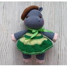М'яка іграшка HandMade БегеМотя Поллі в'язана 18см, сіро-зелений (TI-005)