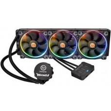 Система водяного охлаждения Thermaltake Water 3.0 Riing RGB 360 (CL-W108-PL12SW-A), Intel: 2066/2011/2011-3/1150/1151/1155/1156/1366, AMD: TR4/AM4/FM1/FM2/AM2/AM2+/AM3/AM3+, 392x120x27 мм, 5-pin - CL-W108-PL12SW-A