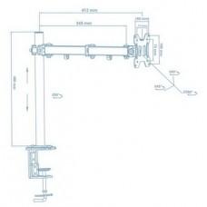Кронштейн Walfix DM-300B (для монитора)