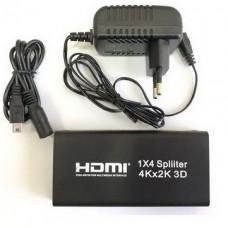 Сплиттер Atcom (15190) HDMI 4 порта, поддержка UHD 4K