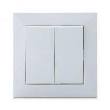 Выключатель SVEN Comfort SE-60018 проходной двойной скрытого типа белый UAH
