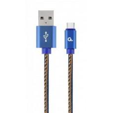 Кабель Cablexpert (CC-USB2J-AMCM-1M-BL) USB 2.0 A - USB Type-C, 1м, синий - CC-USB2J-AMCM-1M-BL