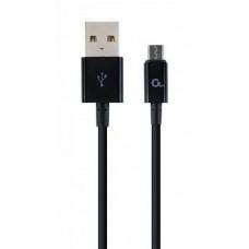 Кабель Cablexpert (CC-USB2P-AMmBM-1M) USB 2.0 A - microUSB B, премиум, 1м, черный - CC-USB2P-AMmBM-1M
