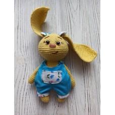 М'яка іграшка HandMade Зайченя Соня в'язана 17.5 см, жовта (TI-007)