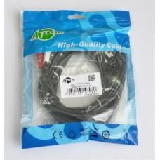 Аудио-кабель Atcom (10708) mini-jack 3.5мм(M)-2xRCA-тюльпан(M) 3м пакет