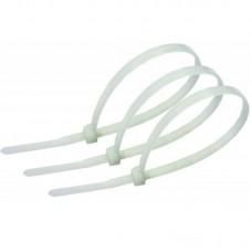 Стяжки Atcom 4,8*400 мм, 100 шт, белые (48400)