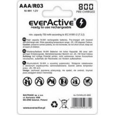 Аккумулятор everActive AAA/HR03 Ni-MH 800mAh (EVHRL03-800) BL 4шт