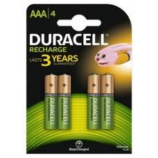 Аккумулятор Duracell Recharge DC2400 Ni-MH AAA/HR03 750 mAh BL 4шт