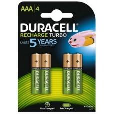 Аккумулятор Duracell Recharge Turbo DX2400 LSD Ni-MH AAA/HR03 900 mAh BL 4шт