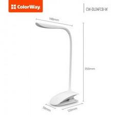 Настольная лампа LED ColorWay CW-DL04FCB-W White