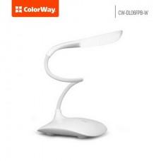 Настольная лампа LED ColorWay CW-DL06FPB-W White