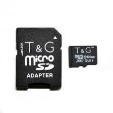 MicroSDHC  64GB UHS-I U3 Class 10 T&G + SD-adapter (TG-64GBSDU3CL10-01)