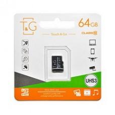 MicroSDHC  64GB UHS-I U3 Class 10 T&G (TG-64GBSDU3CL10-00)