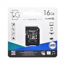 MicroSDHC  16GB UHS-I Class 10 T&G + SD-adapter (TG-16GBSD10U1-01)