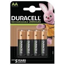 Аккумулятор Duracell Rechargeable DX1500 Ni-MH AA/HR06 2500 mAh BL 4шт