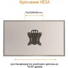 Кронштейн ACCLAB AL-BT100 (1283126485695) (VESA100х100)