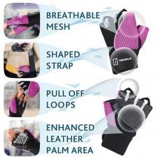 Перчатки для фитнеса Tavialo женские M Black-Pink (188102008)