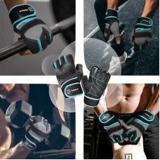 Перчатки для фитнеса Tavialo мужские L Black-Gray-Blue (189202008)