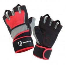 Перчатки для фитнеса Tavialo мужские M Black-Gray-Red (189205007)