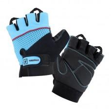 Перчатки для фитнеса Tavialo женские S Black-Blue (цепкий полиэстер) (188105007)