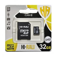 MicroSDHC   32GB UHS-I U3 Class 10 Hi-Rali + SD-adapter (HI-32GBSD10U3-01)