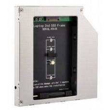 """Адаптер під'єднання Gembird SSD 2.5"""" у відсік привода ноутбука SATA 9.5 мм (A-SATA95M2-01)"""