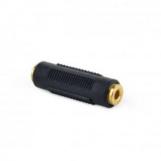 Адаптер Cablexpert (A-3.5FF-01) F 3.5 мм / F 3.5 мм, черный