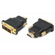 Адаптер Cablexpert ( A-HDMI-DVI-1 ) HDMI- DVI, M/M позол. Контакты