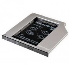 Адаптер Grand-X для подключения HDD 2.5 в отсек привода ноутбука SATA/SATA3 Slim 9.5мм (HDC-24N) - HDC-24N