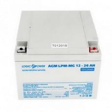 Аккумуляторная батарея LogicPower 12V 26AH (LPM-MG 12 - 26 AH) AGM мультигель