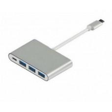 Кабель Atcom (12808) USB-C to 3USB3.0+USB-C, 0.1м, металл