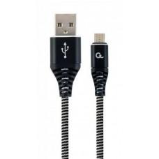 Кабель Cablexpert (CC-USB2B-AMmBM-1M-BW) USB 2.0 A - microUSB, премиум, 1м, черный - CC-USB2B-AMmBM-1M-BW