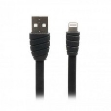 Кабель Cablexpert (CCPB-L-USB-02BK) USB 2.0 A - Lightning, премиум, плоский, 2.4А, 1м, черный - CCPB-L-USB-02BK