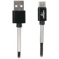 Кабель Cablexpert (CCPB-M-USB-06BK) USB 2.0 A - microUSB, премиум, 2.4А, 1м, черный - CCPB-M-USB-06BK