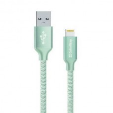 Кабель ColorWay USB-Lihgtning, 1м Mint (CW-CBUL004-MT) - CW-CBUL004-MT