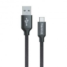 Кабель ColorWay USB-USB Type-C, 1м Black (CW-CBUC003-BK)