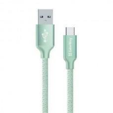 Кабель ColorWay USB-USB Type-C, 1м Mint (CW-CBUC003-MT) - CW-CBUC003-MT