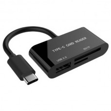 Кардридер USB Type-C Gembird UHB-CR3-02 Black