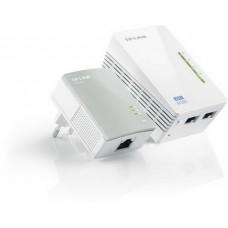 Комплект адаптеров  для создания сети Ethernet на основе эл.сети TL-WPA4220KIT  (500Mbps, Wifi)